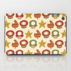 mario items pattern iPad Case