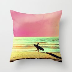 Catching the Early Wave Throw Pillow