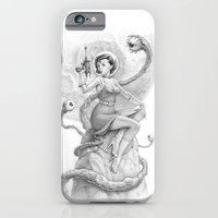 iPhone & iPod Case featuring Astro Babe B&W by Joel Hustak