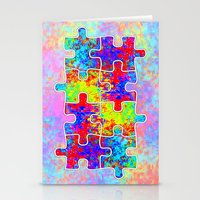 Autism Colorful Puzzle P… Stationery Cards