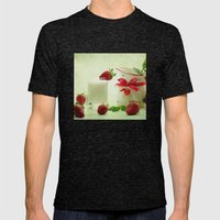 Country-style still life of fresh fruit Mens Fitted Tee Tri-Black SMALL