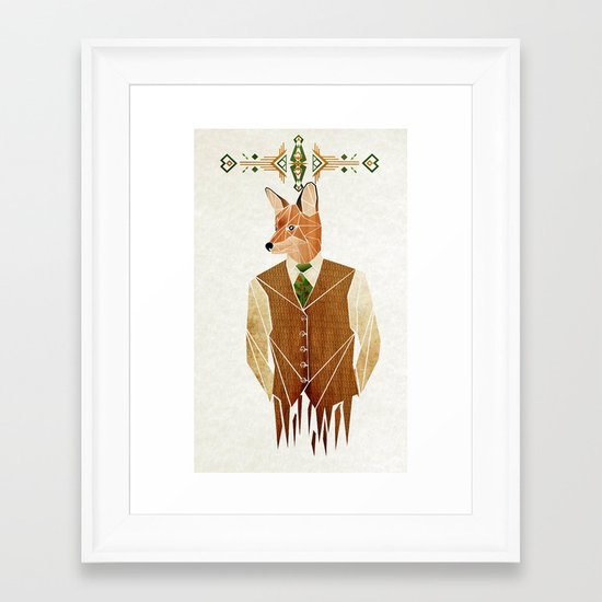 mister fox Framed Art Print