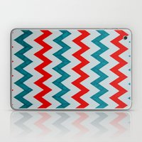 Red and Teal Chevron  Laptop & iPad Skin