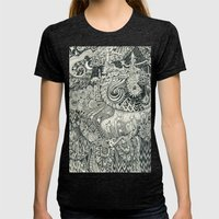 Enchanted Womens Fitted Tee Tri-Black SMALL