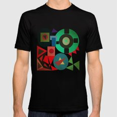 geometric mess Black Mens Fitted Tee SMALL