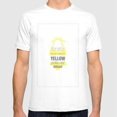 Yellow Polka Dot Bikini Mens Fitted Tee White SMALL