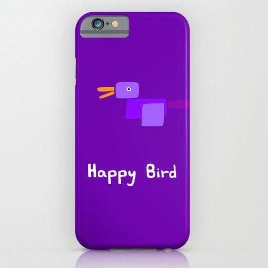 Happy Bird-Purple iPhone & iPod Case