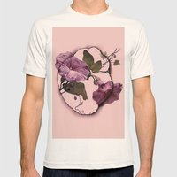 convolvulus and tile Mens Fitted Tee Natural SMALL