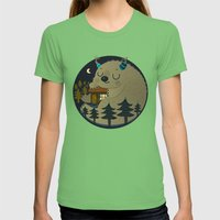 Home Is Where The Monste… Womens Fitted Tee Grass SMALL