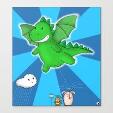 Godzilla rains first! Canvas Print