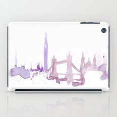 Watercolor landscape illustration_London iPad Case