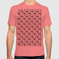 Brushed Circles Mens Fitted Tee Pomegranate SMALL