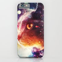 iPhone & iPod Case featuring Cosmic Cat by Ricardo Ajcivinac