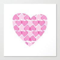 Pretty Ruby Heart Canvas Print