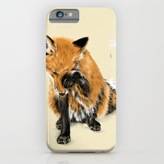 Fox and Dandelion iPhone & iPod Case