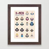 X-MEN BEFORE & AFTER Framed Art Print