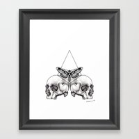 Skull Moth Framed Art Print