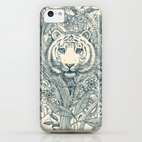 iPhone 5c Cases featuring Tiger Tangle by micklyn