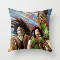 Egg In The Sky Throw Pillow