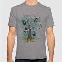 Les Petits - Apple Tree Mens Fitted Tee Athletic Grey SMALL