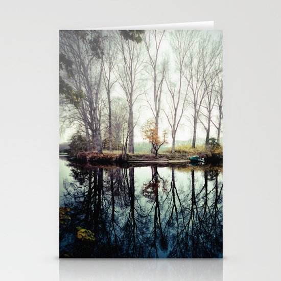 A bend in the river Stationery Card