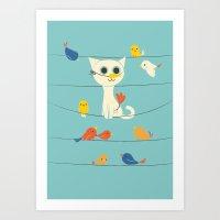 Art Print featuring Birdwatching by Jay Fleck