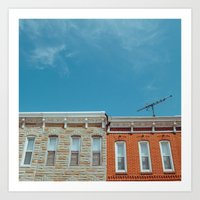 Federal Hill Homes Art Print