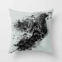 THE LONELY BIRD SONG Throw Pillow