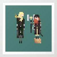 Legolas & Gimli Art Print