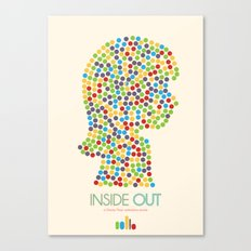 Inside Out minimal poster Canvas Print