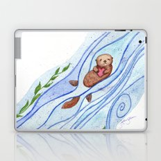 Sea Otter In Love Laptop & iPad Skin