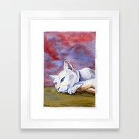Tabitha At Rest Framed Art Print