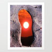 Footprints in Spacetime Art Print