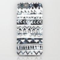Tribal Stripe - B & W iPhone 6 Slim Case