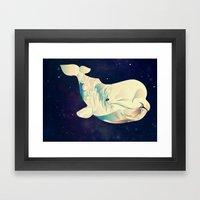 Space Beluga Framed Art Print