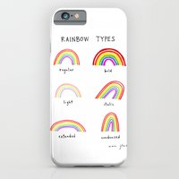 iPhone Cases featuring rainbow types by Marc Johns