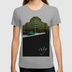 Berlin City Womens Fitted Tee Athletic Grey SMALL