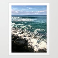 BLUE SEAS Art Print
