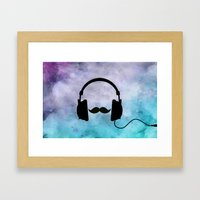 Musical Chameleon  Framed Art Print