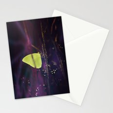 Yellow Butterfly in the Mystic Purple Meadow Stationery Cards