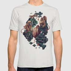 monkey temple Mens Fitted Tee Silver SMALL