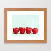 Raspberries Framed Art Print
