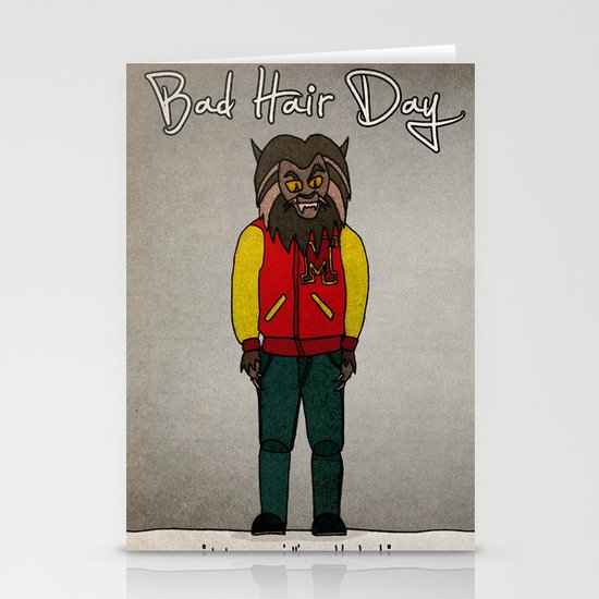 bad hair day no:5 / Thriller Stationery Card