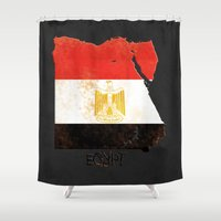 Egypt Vintage Map Shower Curtain
