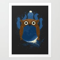 The Earth Owl Art Print