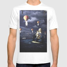Madonna with Child (on the high sea)  SMALL White Mens Fitted Tee
