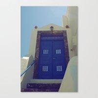 Santorini Door VII Canvas Print