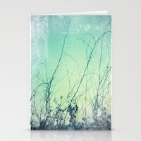 Sea Plants (teal) Stationery Cards