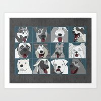 Dogs horizontal Art Print