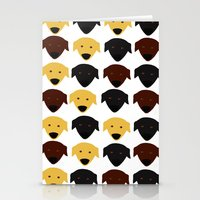 Labrador dog pattern Stationery Cards